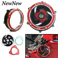 For Ducati Panigale V4S 2018 V4 Speciale 2018 Motorcycle Accessories CNC Engine Parts Racing Clutch Cover Spring Retainer