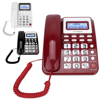 Desktop Corded Telephone with Speaker Voice Recorder Caller ID Display Wired Landline Phone for Home Office Hotel 1