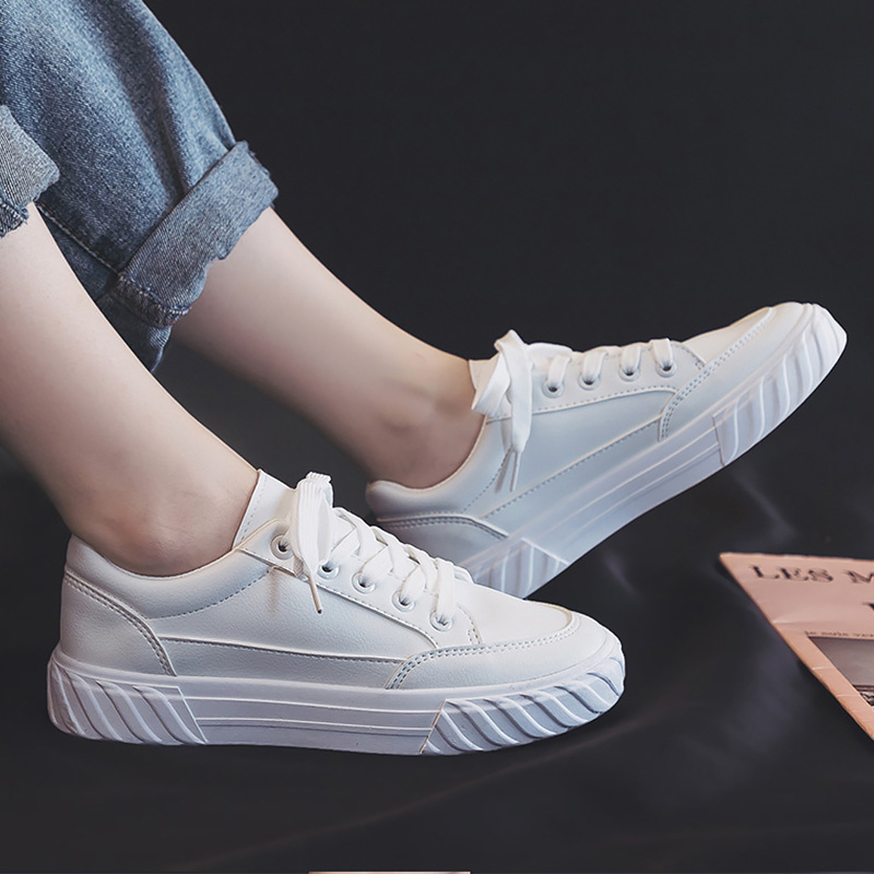 Vulcanized Shoes Men Leather Sneakers Whiter Shoes Boys Student School Shoes Casual Sneakers Man's Unisex Sneakers 2020