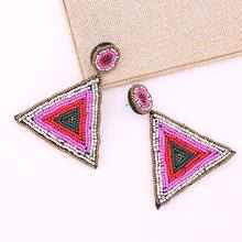 Statement New Design Oorbellen Vrouwen Crystal Colorful Beads Pendant Earrings For Women Bohemian Bridal Accessories