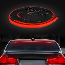 Single Mode High Bright Red Flowing Flashing Additional Car Third Brake Light Tail Stop Lamp 12V Strip Bar