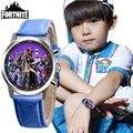 Часы Fortnite, кожа, кварцевые часы из нержавеющей стали для мужчин и женщин, часы для мальчиков, рождественский подарок