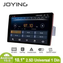 Radio con GPS para coche, Radio con reproductor, pantalla IPS 2.5D de 10,1 pulgadas, Android 10, 1280x800, soporte universal para 4G/Carplay