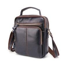 Винтажная мужская сумка-мессенджер из натуральной кожи, деловая сумка, мужские кожаные сумки на плечо, маленькие сумки через плечо, ретро сумочки