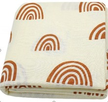 120x120cm Rainbow Bamboo Cotton Baby Blanket Soft Muslin Swaddle Blanket Swaddle Set Newborn
