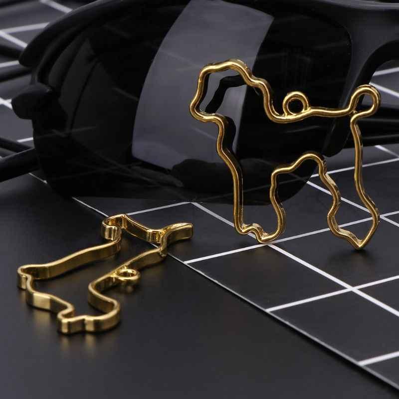5 قطعة/المجموعة الكلب الحيوان التصميم الكريستال صمغ أيبوكسي الأشعة فوق البنفسجية الراتنج المعادن الحدود اللون الاحتفاظ DIY صنع المجوهرات إطار