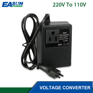 Image 3 - מתח צעד למטה שנאי 200W 220V כדי 110V צעד למטה נסיעות תמיכה האיחוד האירופי Plug מתח שנאי ממיר