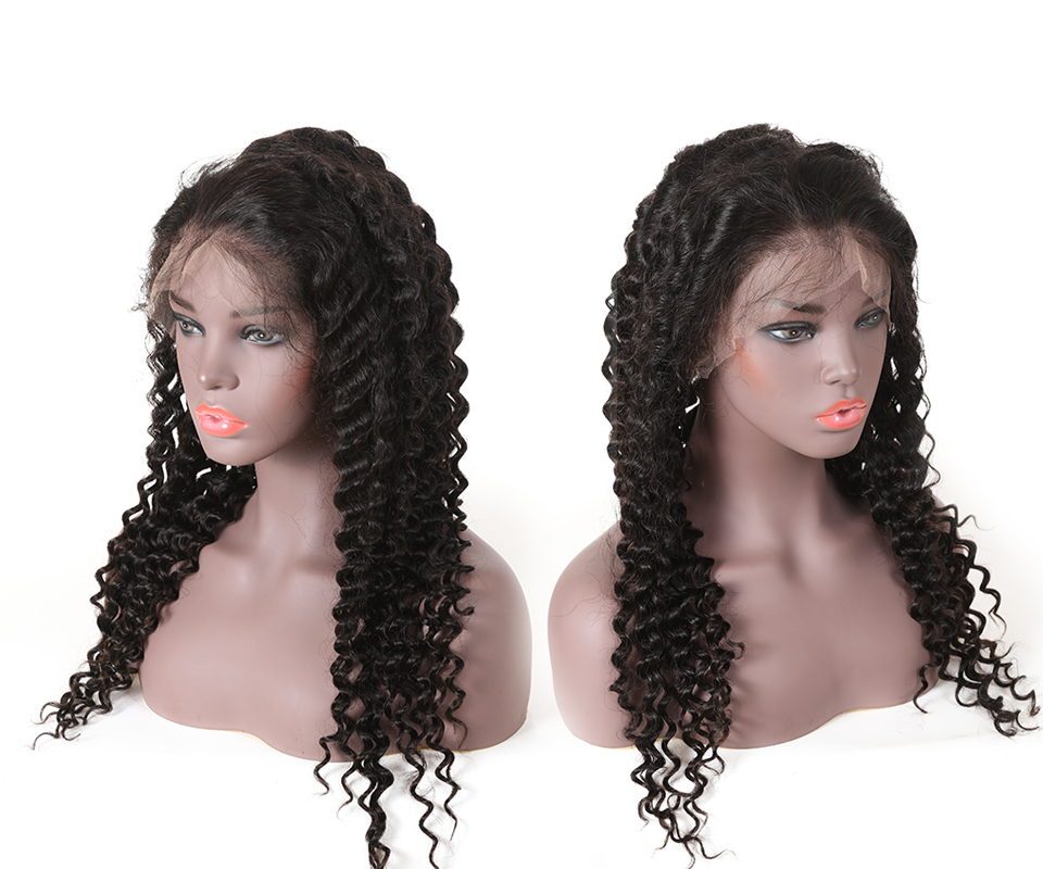 """H53a6ce2dfacf43b6b92fdd1b95542c05a Ali Queen 13x6 Lace Front Wig Natural Color 8""""-26"""" High Ratio 8A Brazilian Deep Wave Curly Remy Human Hair Wigs For Women"""