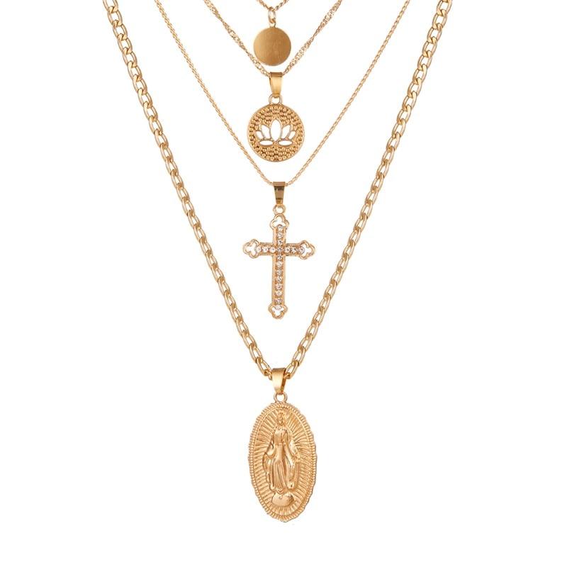 VKME модное жемчужное ожерелье с двойным слоем Love аксессуары Женское Ожерелье Bijoux подарки - Окраска металла: ZL0000835