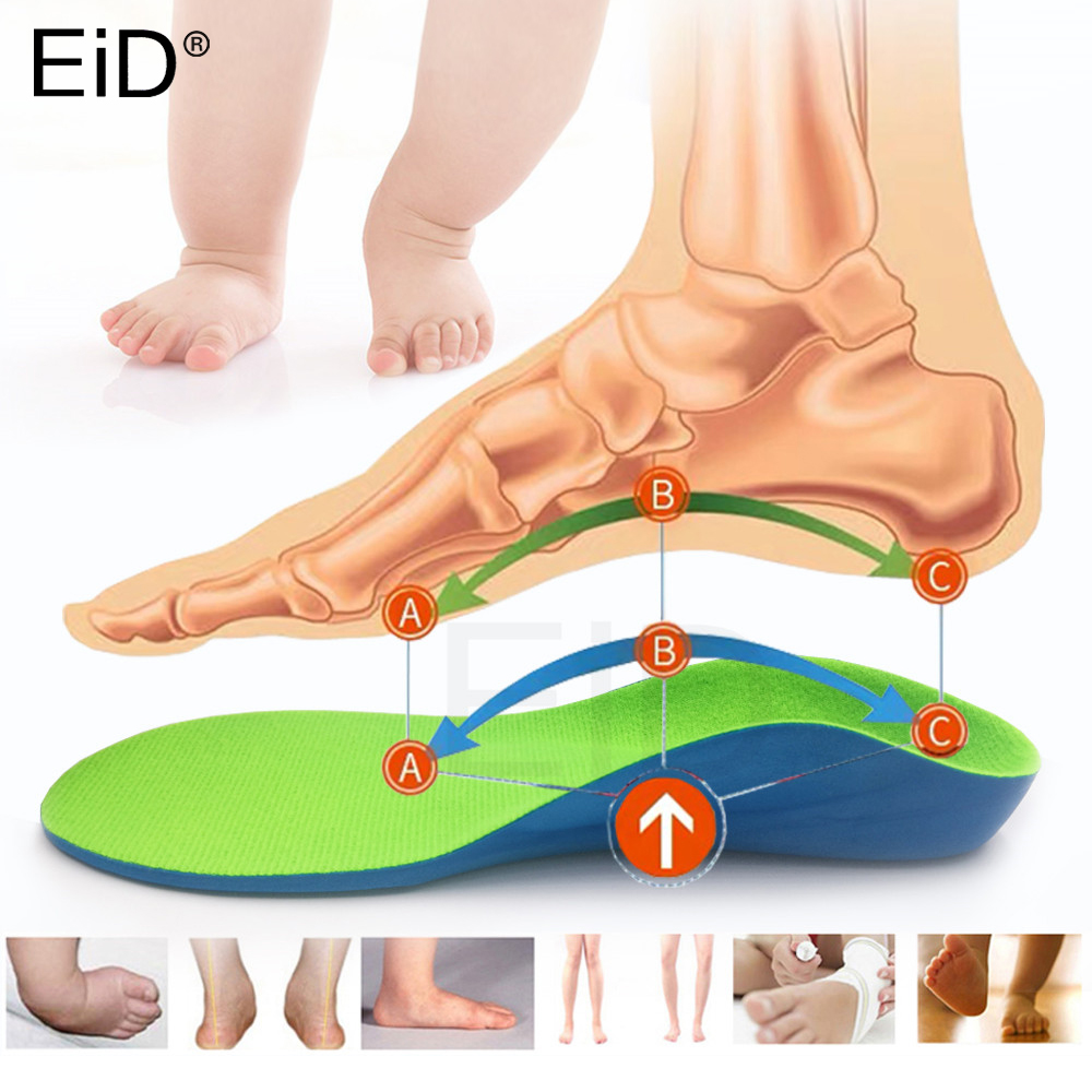 EiD EVA 4D  Kids Children Orthotic Insoles For Flat Feet Arch Support Insole For OX-Legs Child Orthopedic Shoes Foot Care Insert