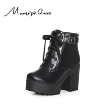 shoes woman ankle boots New Fashion Punk Autumn and Winter high heels pink Martin Women Round Toe Buckle Shoes women boots women boots 2015 autumn and winter high heels round toe shoes woman soft leather england styel martin boots plus size 34 43y88