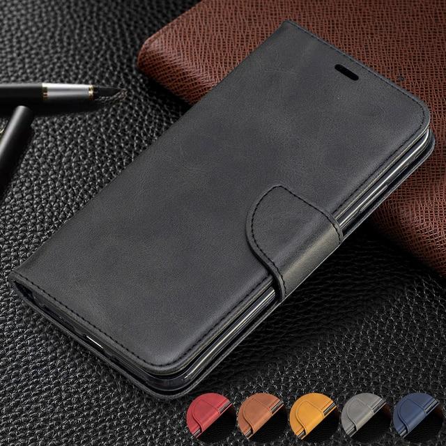 Винтажный чехол из искусственной кожи для Xiaomi Redmi 7 Note 7 6 Pro 5 Plus 6a A2 lite, бумажник, откидная подставка, отделения для карт, магнитная застежка