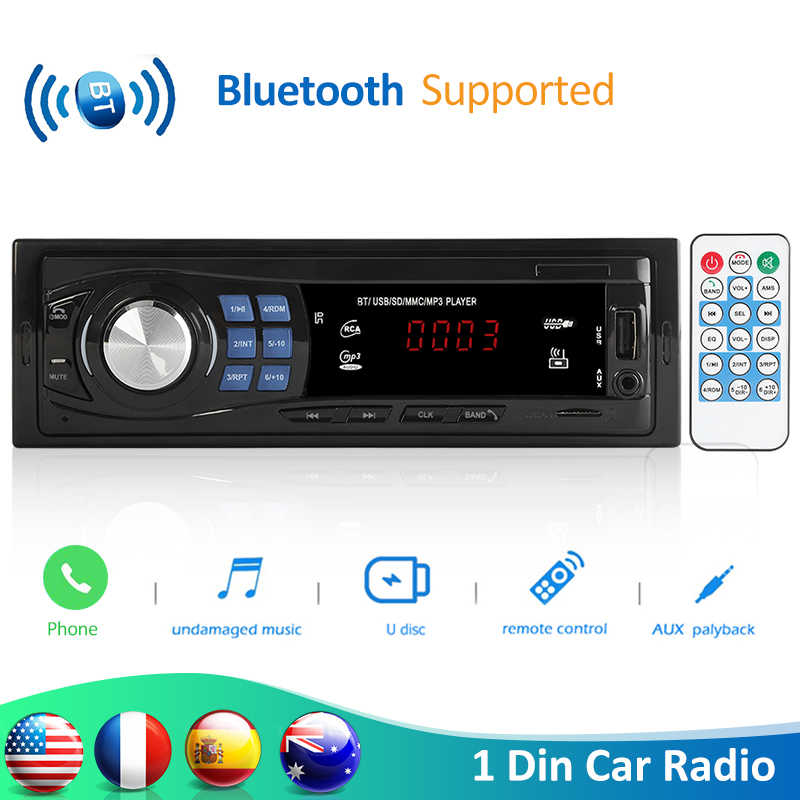 VODOOL 8013 1DIN In-Dash Auto Radio Stereo Fernbedienung Bluetooth Autoradio 12V FM Auto Radio Auto MP3 player USB/TF/AUX Eingang