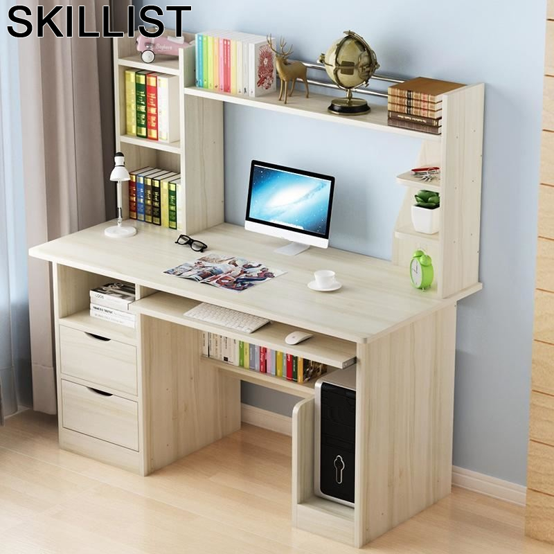 Mueble Office Dobravel Escritorio Tavolo Lap Desk Biurko Portatil Mesa Computer Tablo Bedside Laptop Stand Table With Bookshelf