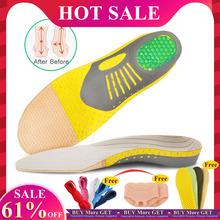 EiD PVC wkładki ortopedyczne Orthotics płaskostopie zdrowie podeszwa Pad dla wkładka do butów sklepienie łukowe pad dla podeszwy fasciitis pielęgnacja stóp tanie tanio 1 cm-3 cm Średnie (b m) MJ00E W paski Szok-chłonnym Orthopedic Insoles Flat Foot Arch Support Shoes accessories shoe inserts