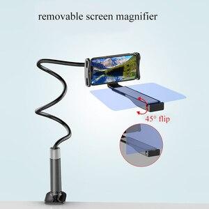 Image 3 - 8/12 אינץ נייד טלפון 3D מסך מגבר מגדלת עבור Smartphone עצלן מחזיק Hd הקרנה Amplificador דה Pantalla סוגר