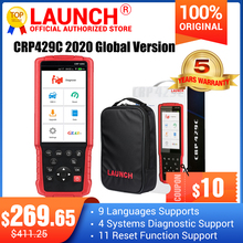 LAUNCH X431 CRP429C OBD OBD2 코드 리더 스캐너 4 시스템 진단 + 11 재설정 기능 CRP429 스캔 도구 더 나은 CRP129