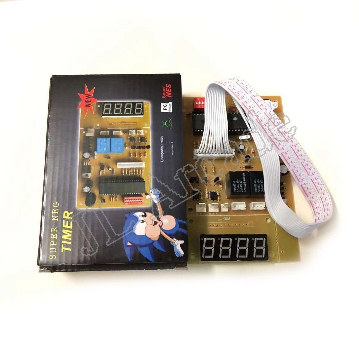 4 dígitos 12V tiempo temporizador de Control con arnés de alambre para caja de juegos recreativos selector monedas y de agua de la bomba de lavado de la máquina