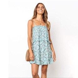 2019 отдельная станция Amazon летние новые продукты Slim Fit сладкое платье с цветочным принтом платье НА ШЛЕЙКАХ