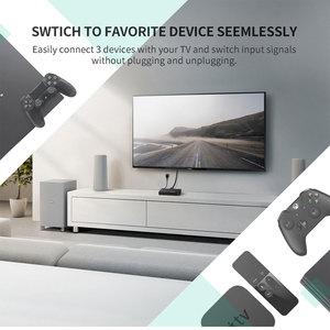 Image 2 - Ugreen interruptor HDMI 4K para Xiaomi Mi Box, 3 puertos, 3 en 1, salida HDMI, concentrador divisor para Xbox 360, PS4, con interruptor de Control, HDMI