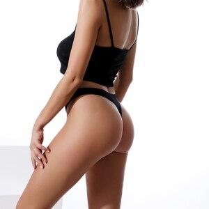 Image 4 - 3Pcs קרח משי חלק מחרוזת ספורט t בחזרה חוטיני רשת לנשימה חוטיני סקסי תחתוני אנטיבקטריאלי תחתוני נשים תחתונים חדש