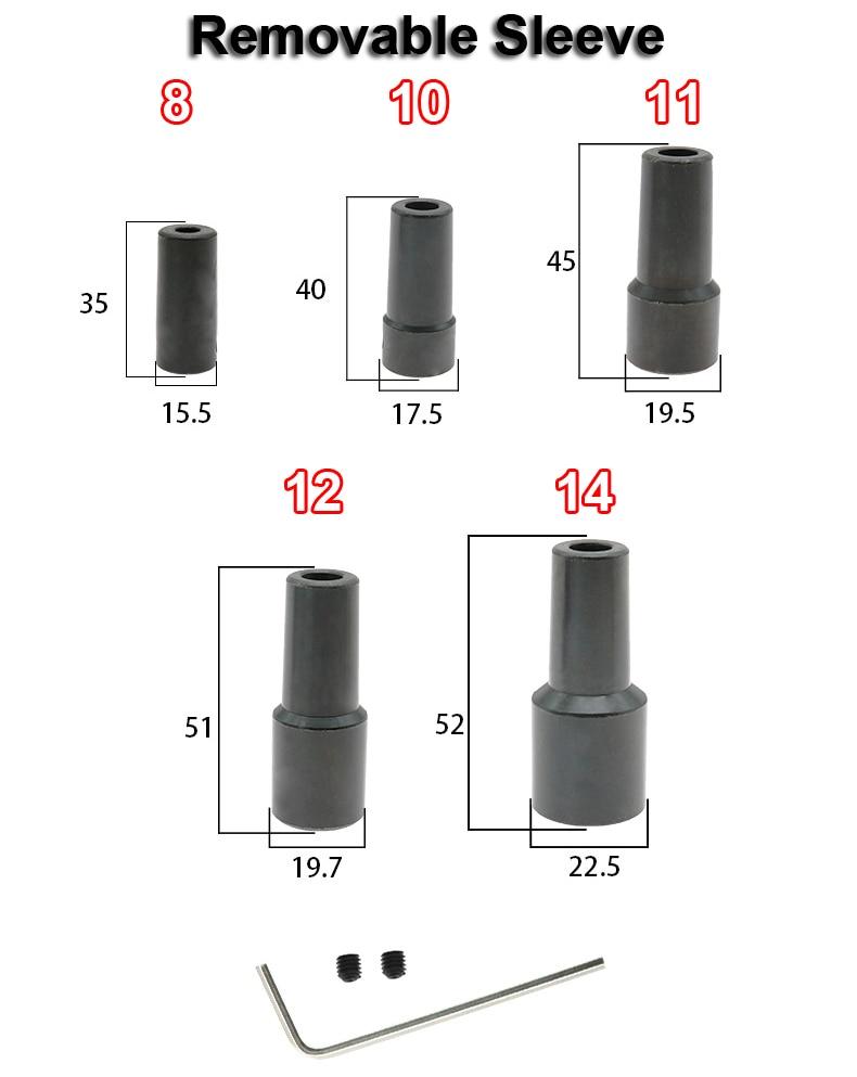 1 шт. 5 мм/6 мм/8 мм/10 мм/11 мм/12 мм/14 мм вал двигателя муфта B16 сверлильный патрон Конус шатун