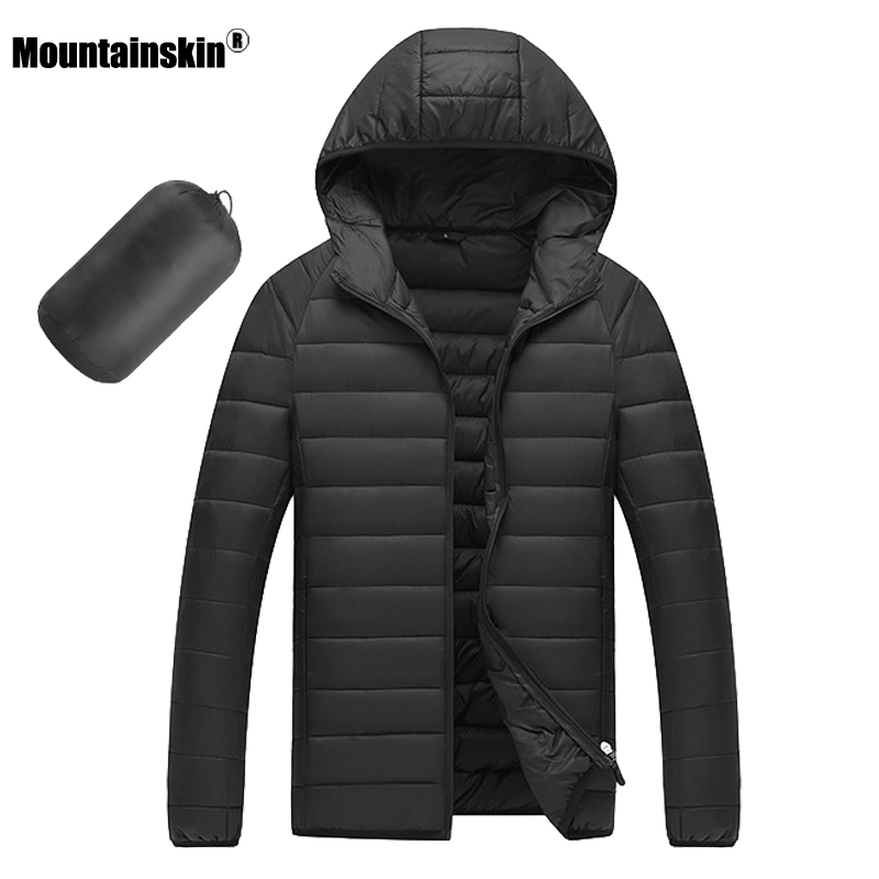 Moutainskin New 2019 Winter Men's Coats Solid Color Hooded Cotton Jackets Male Casual Fashion Warm Coat Men Brand Clothing SA771