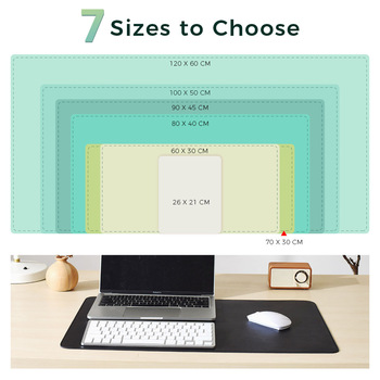 Double-side Portable Large Mouse Pad Gamer Waterproof PU Leather Suede Desk Mat Computer Mousepad Keyboard Table Cover for Dota 2
