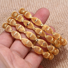 24k Gold Bangle for Women Gold Dubai Bride Wedding Ethiopian Bracelet Africa Bangle Arabic Jewelry Gold Charm Bracelet цена 2017