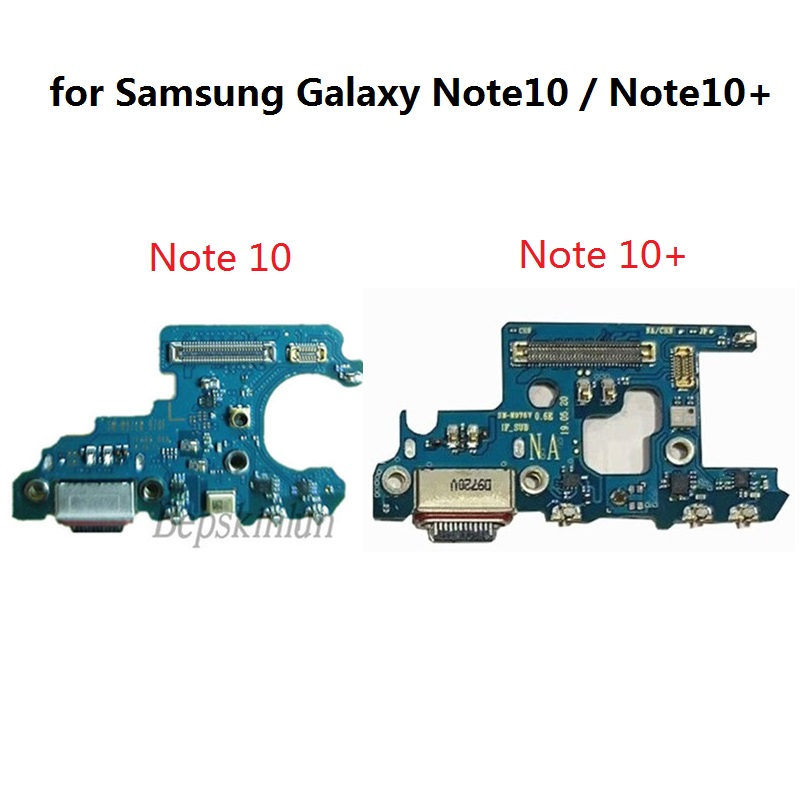 Bepskinlun Original Charging Port PCB Board Replacement Part For Samsung Galaxy Note10 / Note 10+  Note 10 Pro