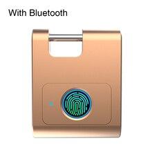 Cerradura de puerta de seguridad de aleación de Zinc con Bluetooth para el hogar, cerradura inteligente sin llave, 360 grados, candado recargable por USB para dormitorio
