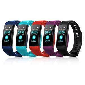 Esporte fitness bluetooth y5 tela colorida de medição de pressão arterial monitor de freqüência cardíaca equipamentos de fitness esportes wa