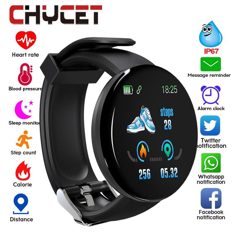 2019 Bluetooth Relógio Inteligente Homens de Pressão Arterial Rodada Mulheres Assistir À Prova D' Água Esporte Rastreador Smartwatch WhatsApp Para Android Ios