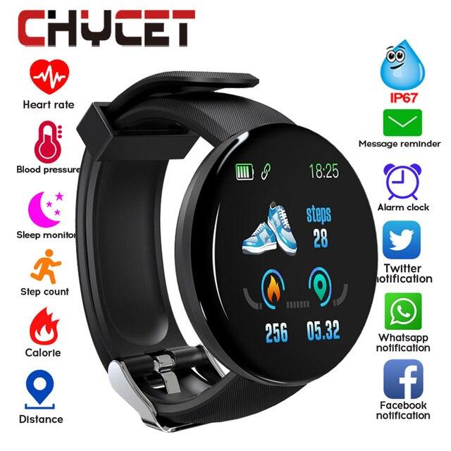 $ US $9.31 2019 Bluetooth Smart Watch Men Blood Pressure Round Smartwatch Women Watch Waterproof Sport Tracker WhatsApp For Android Ios