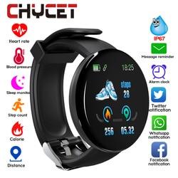Reloj inteligente Bluetooth 2019 para hombre, reloj inteligente redondo para mujer con presión arterial, reloj deportivo impermeable, WhatsApp para Android IOS