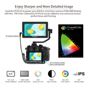Image 4 - FEELWORLD F6 PLUS 4K Monitor 5.5 Inch on Camera DSLR Field 3D LUT Touch Screen IPS FHD 1920x1080 Video Focus Assist Support HDMI