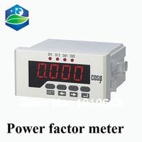 Einzigen phase power factor meter COS meter LED digital panel meter
