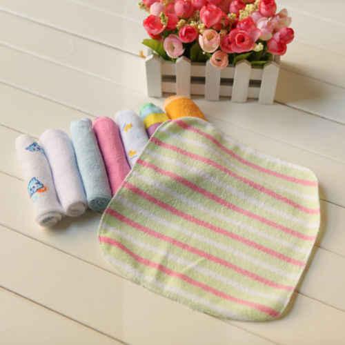 8 Stuks Set Pasgeboren Zachte Badhanddoek Washandje Zwemmen Feeding Washandje Veeg Doek Kids Kinderen Zachte Handdoeken Veelkleurige
