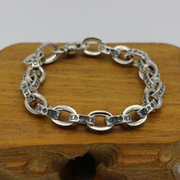 Starfield Male Female Models Retro Thai Silver Crusader Bracelet Homme S925 Sterling Silver Trendy Handmade Wholesale
