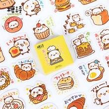 Panda baker adesivos kawaii animal papel adesivos scrapbooking dos desenhos animados diário decorativo adesivos para leiteria pão alimentos série
