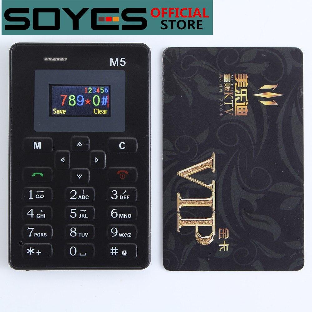 Cartão ultra fino telefone móvel aiek/aeku m5 mini estudantes de bolso personalidade telefone bluetooth dialer celulares celulares