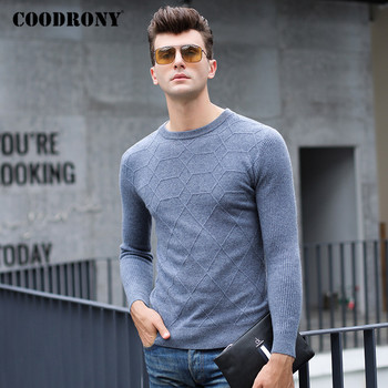 COODRONY Brand Sweater Men High Quality Pure Merino Wool Pullover Men Clothing Autumn Winter Thick Warm Cashmere Sweaters P3019 coodrony brand sweater men zipper turtleneck cardigan men clothing autumn winter thick warm 100% merino wool sweater coat p3026