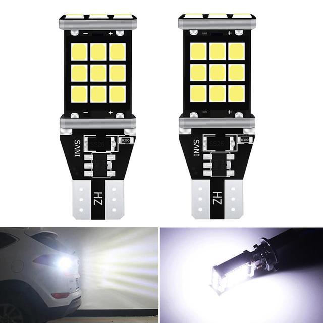 2x T16 T15 W16W Bóng Đèn LED 2835 SMD 921 912 Xe Ô Tô Hỗ Đèn Cho Xe Hyundai Santa Fe Ix35 Ix20 ix55 Ma Trận Tucson Veloster
