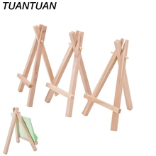 1pcs Mini Wooden Easel Wedding Table Card Stand Display Holder For  Artist paiting Decoration