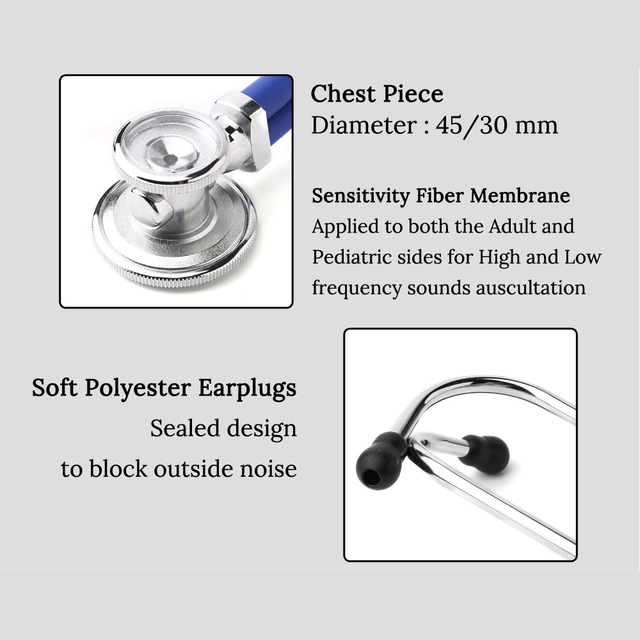 Multifunctional Doctor Stethoscope Professional Doctor Nurse Medical Equipment Cardiology Medical Stethoscope Medical Devices 4