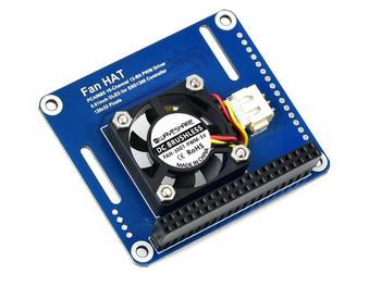 PWM Controlled Fan HAT for Raspberry Pi, I2C Bus, PCA9685 Driver, Temperature Monitor,Fan HAT