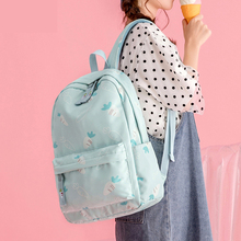 Mori casual all-match backpack middle school student schoolbag female embroidery printing polyester waterproof backpack