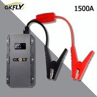GKFLY 1500A 자동차 점프 스타터 휴대용 20000mAG 12V 시작 장치 가솔린 디젤 자동차 충전기 자동차 배터리 부스터 버스터 LEd