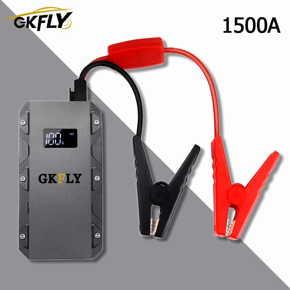 GKFLY 1500A urządzenie do uruchamiania awaryjnego samochodu przenośne 20000mAG 12V urządzenie zapłonowe benzyna samochód z napędem Diesel ładowarka do wzmacniacz do akumulatora samochodowego Buster LEd