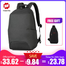 Tigernu 2019 New Design RFID Man Backpack Fit 15.6 inch Laptop Backpack Schoolbag splash Proof Male Bag Anti Thief Mochila(China)